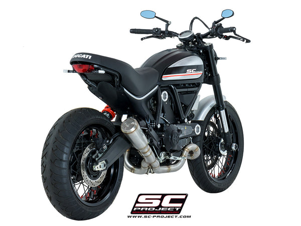 SC PROJECT DUCATI SCRAMBLER CONIC 2-1 LOW MOUNT FULL SYSTEM EXHAUST / D16-CL42A
