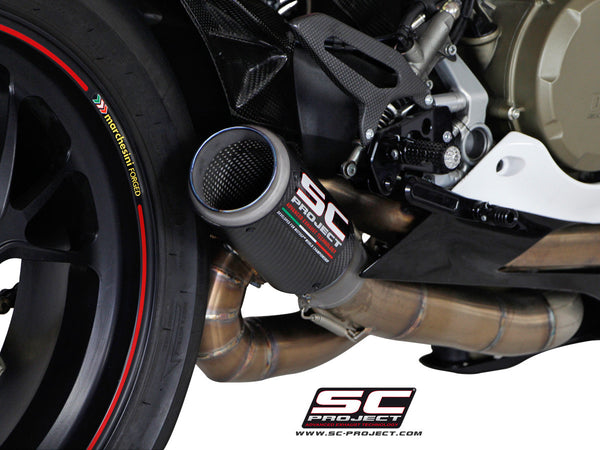 SC PROJECT DUCATI PANIGALE 1199 CR-T EXHAUST WITH LINK PIPE