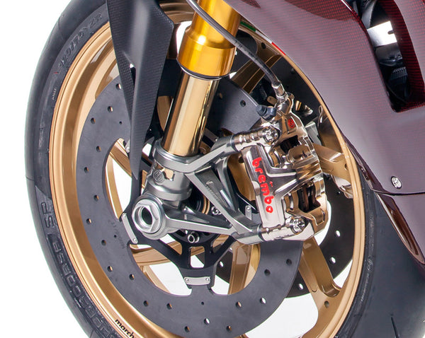 MOTOCORSE MOTO CORSE  102130140 _ OHLINS FRONT FORKS KIT WITH BILLET ALUMINIUM CALIPER RADIAL MOUNTS FOR DUCATI PANIGALE V2 / V4