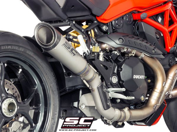 SC PROJECT DUCATI MONSTER 1200 R S1 TITANIUM MUFFLER WITH LINK PIPE / D18-T41T