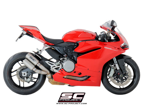 SC PROJECT DUCATI PANIGALE 959 CR-T TWIN TITANIUM MUFFLERS WITH LINK PIPE / D20-DT36T