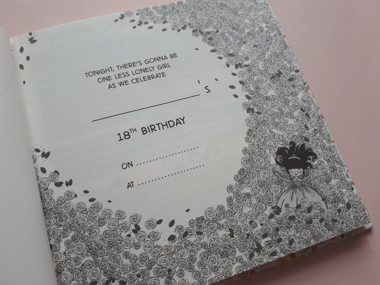 "The ""I don't know about you, but I'm feeling 18, too! Debut Guestbook"