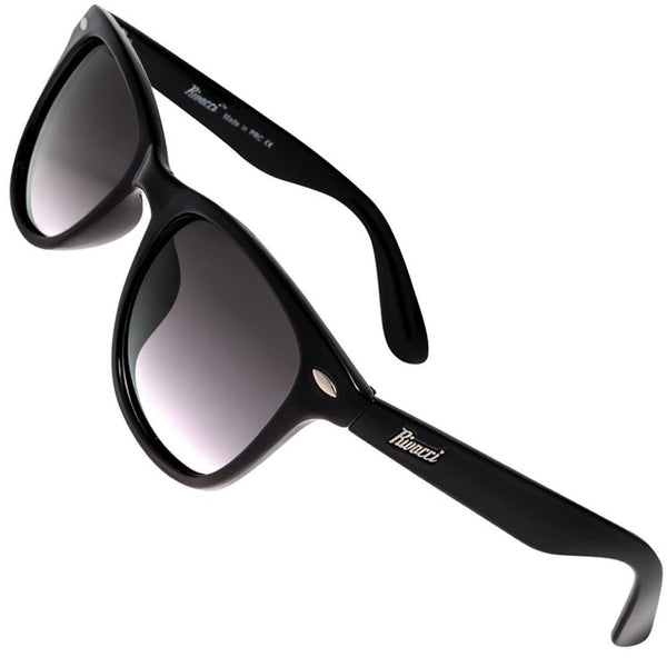 Wayfarer Black Frame / Lavender Shade Lens Medium 49mm Polarized Sunglasses