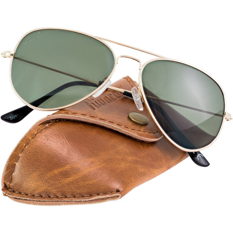 Aviator Gold Frame / G15 Green – Gray Lens Medium 58mm Polarized Sunglasses