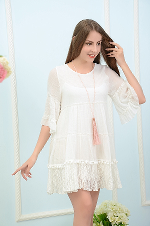 I Feel The Heat Vintage Lace Tunic Dress - It's A Cowgirl Thing Boutique