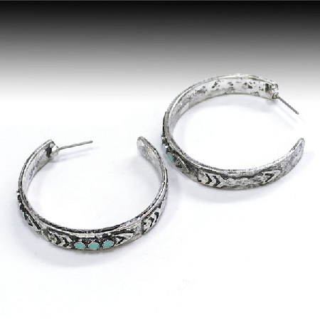 Silver Hoop Cowgirl Earrings - It's A Cowgirl Thing Boutique
