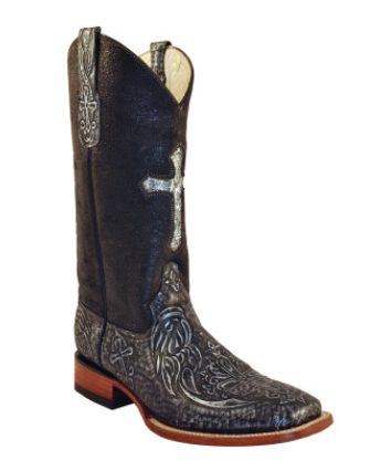 Ferrini Embossed Cross Silver Cowgirl Boots