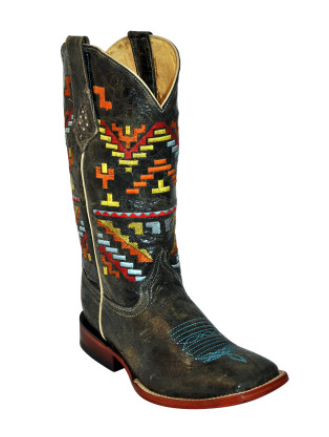 Ferrini Aztec Cowgirl Teal Boots