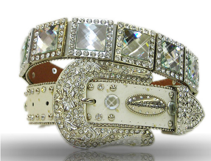 Prism Cut Crystal Western Belt - It's A Cowgirl Thing Boutique