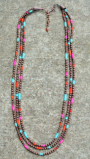 Copper Trend Multi Necklace - It's A Cowgirl Thing Boutique