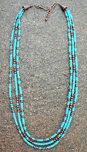 Copper Trend Turquiose Necklace - It's A Cowgirl Thing Boutique