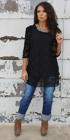Plus Dark Wash Boyfriend Jeans - It's A Cowgirl Thing Boutique