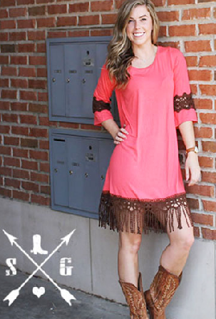 Fairest of Them All Fringe Dress - It's A Cowgirl Thing Boutique