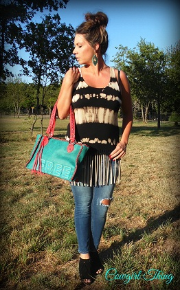 Fringe Tie Dye Tank - It's A Cowgirl Thing Boutique