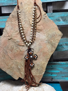 Just Say It Cross Necklace - It's A Cowgirl Thing Boutique