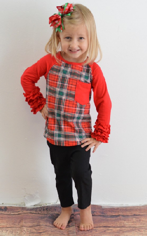 Kids Plaid Pant Outfit