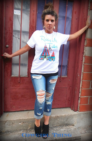 Raising A Tribe Tee - It's A Cowgirl Thing Boutique