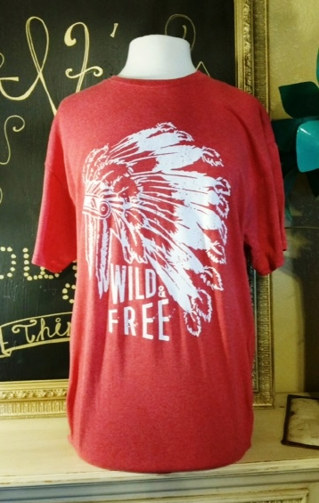 Wild And Free Indian Tee