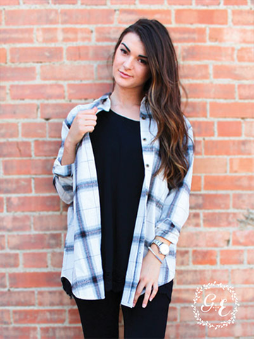 ! A Boyfriend Plaid Fannel Top