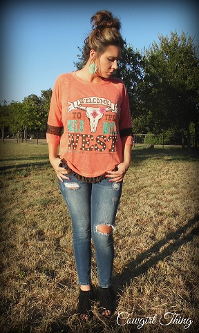 Welcome To The Wild West Tassel Tee