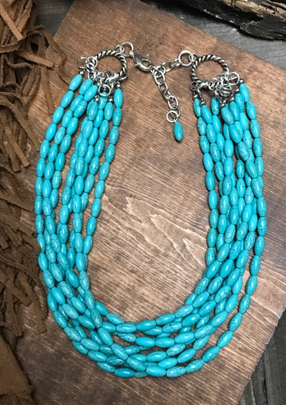 * Arizona Turquoise Bead Necklace