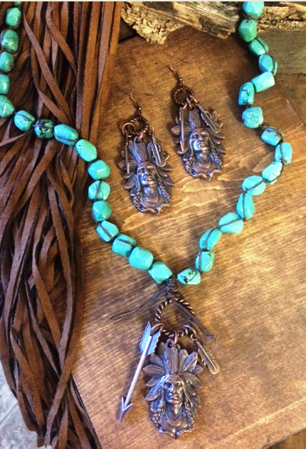 Arizona Tribal Necklace Set - It's A Cowgirl Thing Boutique