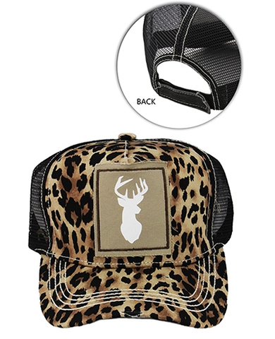 ! 1 Cheetah Deer Baseball Cap