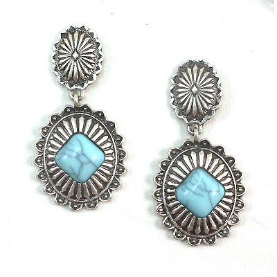 Silver Cowgirl Concho Earrings