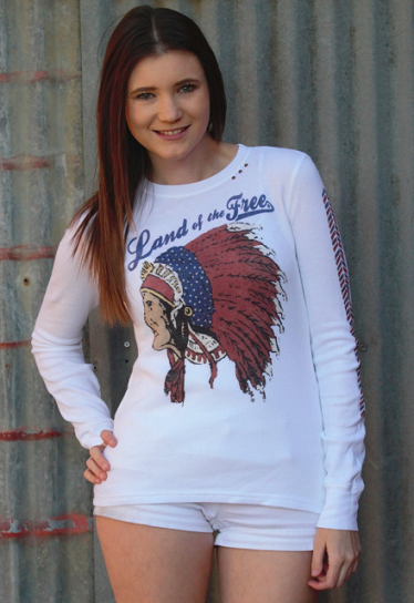 Land Of The Free Big Chief Thermal - It's A Cowgirl Thing Boutique