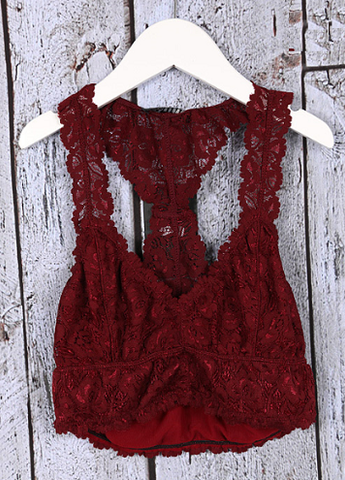 Merlot Lace Bralette - It's A Cowgirl Thing Boutique