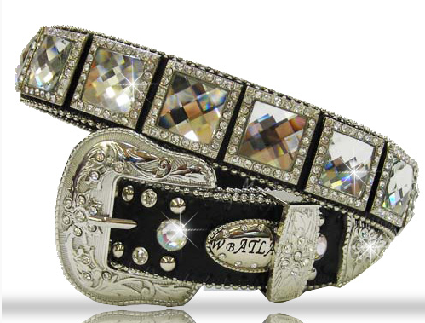 Kids Clear Crystal Kids Western Belt - It's A Cowgirl Thing Boutique