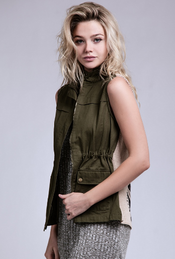 Tyler Olive Utility Tribal Vest - It's A Cowgirl Thing Boutique