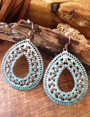 Patina Cowgirl Earrings