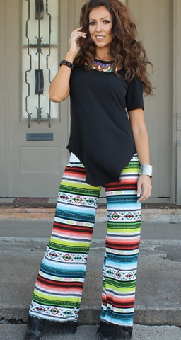 Meet Me Down South Serape Crochet Pants - It's A Cowgirl Thing Boutique