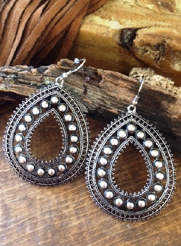 Silver Cowgirl Earrings