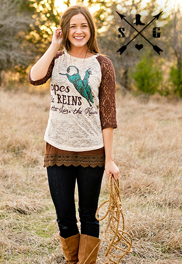 Ropes And Reins Baseball Tee