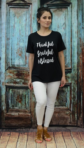 ! 0 Thankful Grateful & Blessed Tee