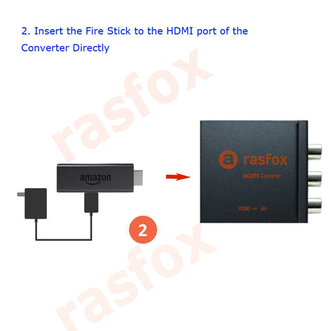 Rasfox Hdmi To Av Converter For Amazon Fire Stick Installation Guide
