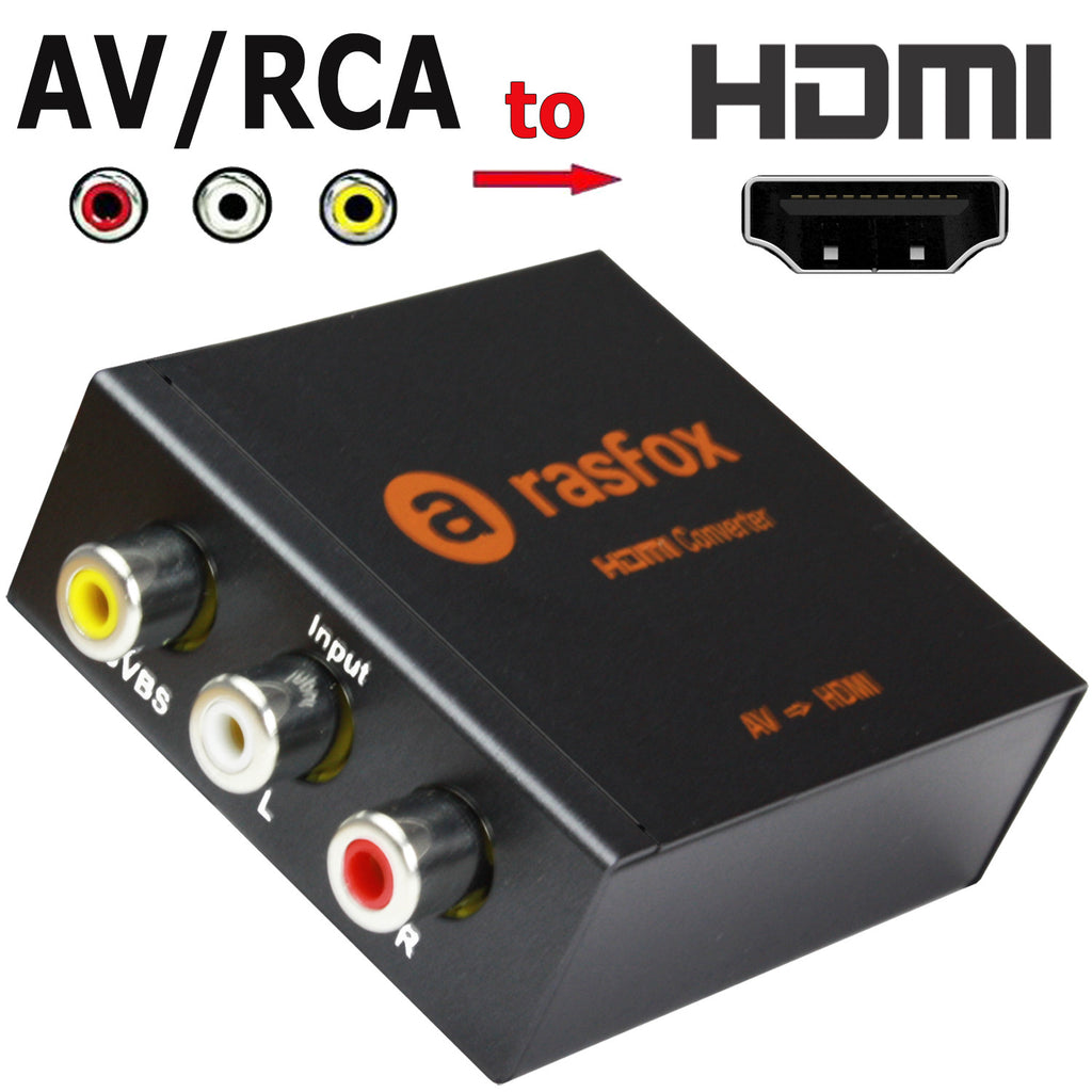 Av Rca To Hdmi Female Converter Adapter Box Upscaler Rasfox Store Conventer Or