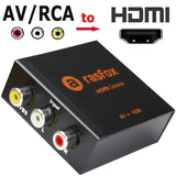 AV CVBS RCA Composite to HDMI Female Converter Adapter Box Upscaler 1080P