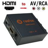 HDMI to Composite RCA Audio Video AV CVBS Adapter Converter Box 1080P