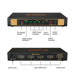 4-PORT HDMI 2.0 SWITCH 4X1 4K@60HZ UHD 1080P 3D WITH REMOTE