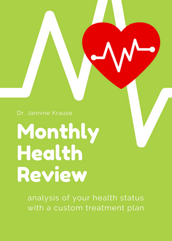 Monthly Health Review – analysis of your health status with monthly monitoring of your condition