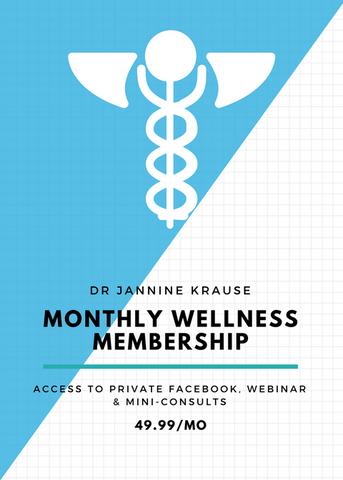 Monthly Wellness Membership – access to private Facebook, webinar & mini-consults