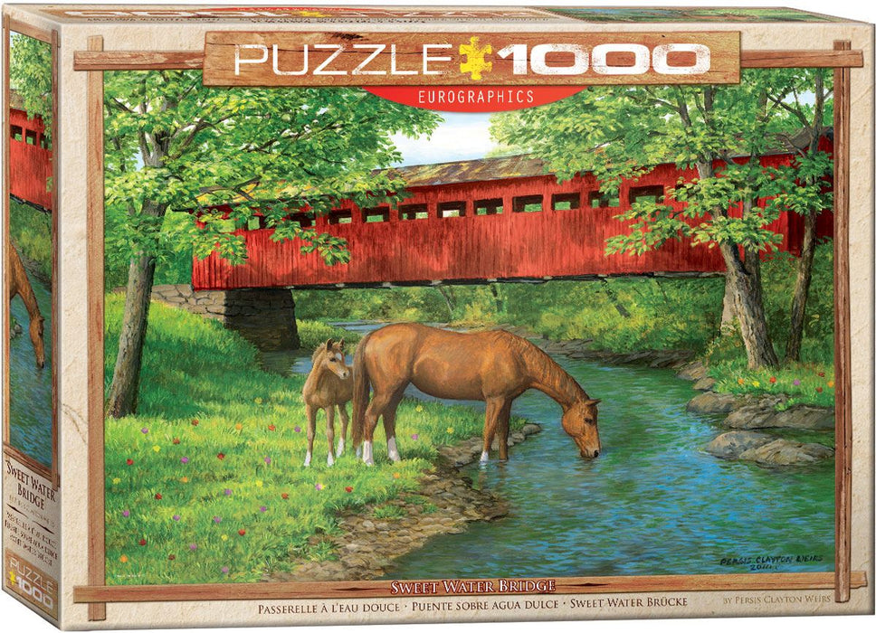 Sweet Water Bridge by Weirs 1000 Piece Jigsaw Puzzle