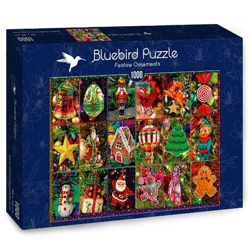 Festive Ornaments 1000 Piece Jigsaw Puzzle box