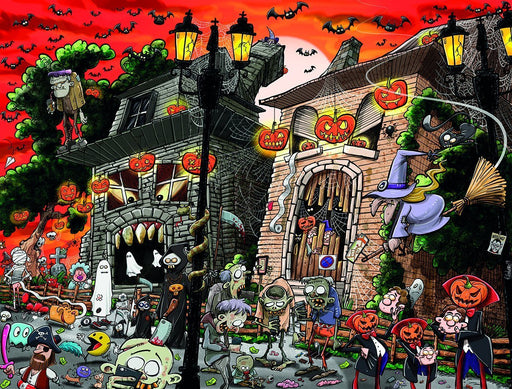 Chaos on Halloween 1000 or 500 Piece Jigsaw Puzzles - All Jigsaw Puzzles