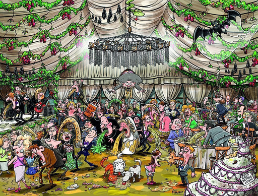 Chaos at the Wedding Reception 1000 or 500 Piece Jigsaw Puzzle - All Jigsaw Puzzles