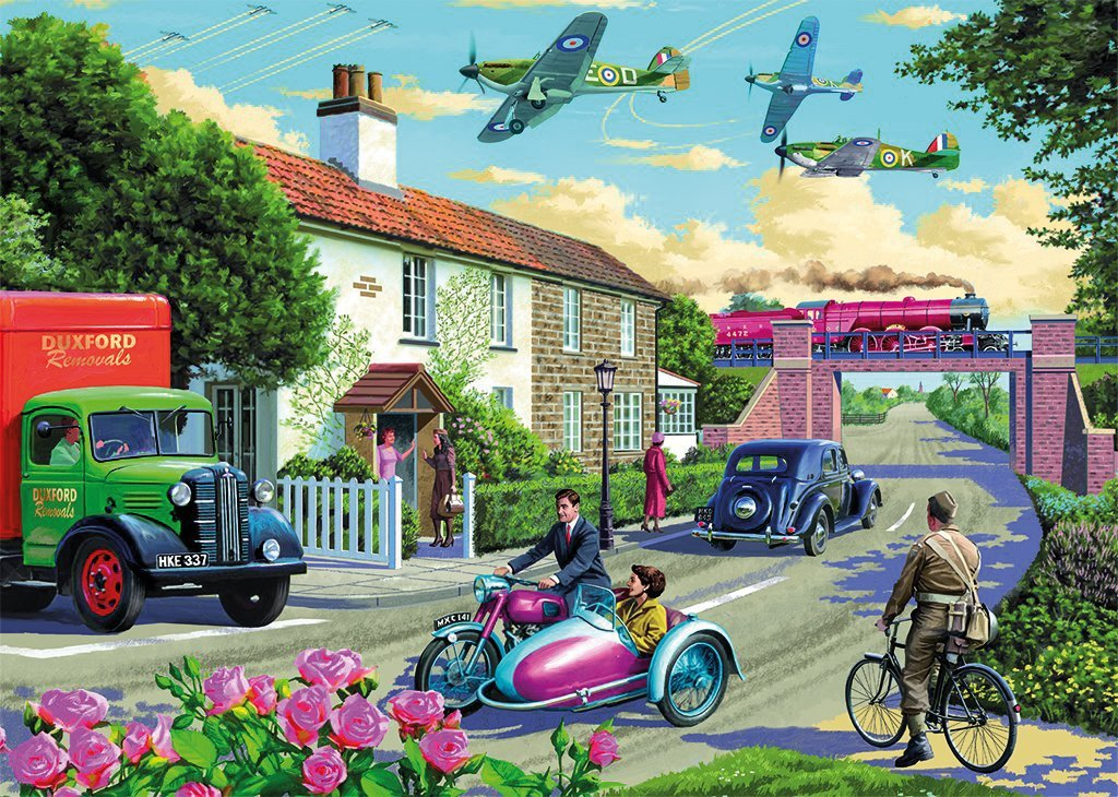 Wartime Morning 1000 Piece Jigsaw Puzzle - All Jigsaw Puzzles