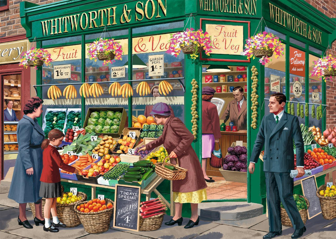 The Greengrocer 1000 piece jigsaw puzzle - All Jigsaw Puzzles